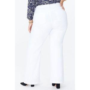 NYDJ Jeans - NYDJ Wide Leg Trouser Jeans Optic White Size 16 Sh